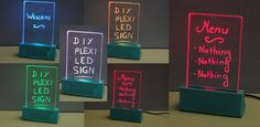 These 3D Printed Plexiglass LED Signs Display Your Text Like Magic
