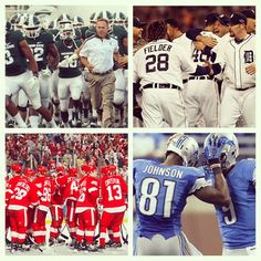 This is why I love October. Michigan State Football, Tigers postseason, Red Wings and Lions Detroit State, Michigan State Football, Detroit Tigers Baseball, The Mitten State, Basketball Floor, Motown, Victorious, Celebrities, Sports