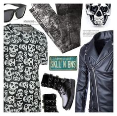 """""""S_K_U_L_L☠"""" by meyli-meyli ❤ liked on Polyvore featuring men's fashion, menswear, MensFashion, mensstyle and rosegal"""