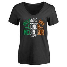 Conor McGregor UFC Women's Firebrand Slim Fit T-Shirt - Black