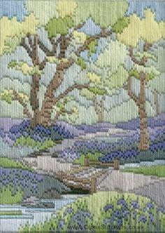 Spring Walk Long Stitch (needlepoint) Kit from Derwentwater Designs