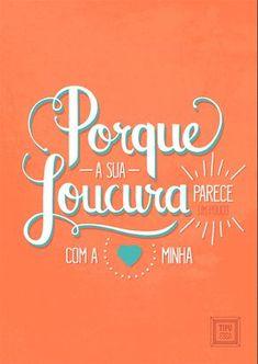 Cartaz tipográfico da música De Todos os Loucos do Mundo, de Clarice Falcão.   De Todos os Loucos do Mundo lettering - typography
