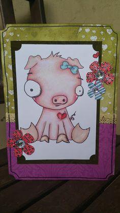 The Craft of Mimi: Elsa the piggy card.