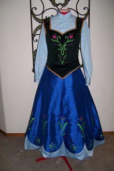 anna's dress frozen flower pattern - Google Search