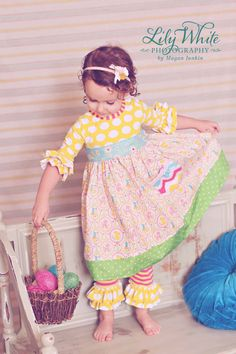 Woodland Tails Easter Dress in Custom by LavenderBirdCreation, $56.00