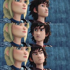 Hiccup's face.. XD