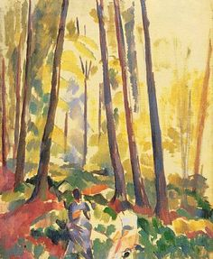 Femmes cousant en for�t (Women Sewing in the Forest), 1914 (Summer) Rik Wouters