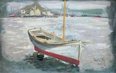 Greece Painting, Boat Painting, Greek Art, Sailing Ships, Painters, Modern, Greek