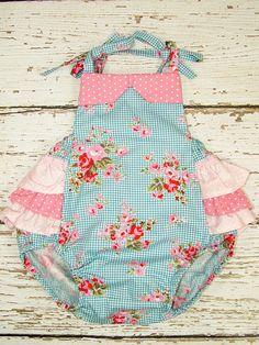 Baby PDF pattern Baby Romper Vintage Style by MyChildhoodTreasures, $6.95