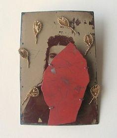 Bettina Speckner   Brooch, 2007    Ferrotype; Silver; Jasper;  Found Objects