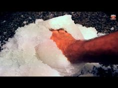 How to get Instant-Snow Powder - Science Experiments. AGAIN DON'T EAT THE SNOW! GIGGLE!