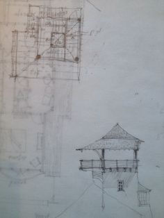A tower study for a house in Watersound. #dungannequette #architecture #sketch #watersound
