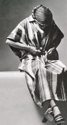 Issey Miyake - Vogue Italia - January 1975. photo by Alex Chatelain