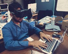An awesome Virtual Reality pic! Trying #oculusrift #vr #hmd #hmdvr for a #lab #virtualreality #virtual #vsco #vscocam by dibja check us out: http://bit.ly/1KyLetq