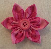 Easy Fabric Kanzashi Pointed