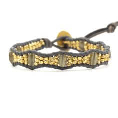 Chan Luu - Labradorite and Gold Nugget Single Wrap Bracelet on Natural Grey Leather, $155.00 (http://www.chanluu.com/bracelets/labradorite-and-gold-nugget-single-wrap-bracelet-on-natural-grey-leather/)