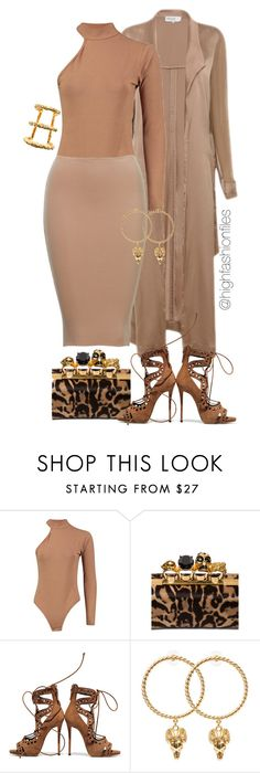 """""""Pop of Print"""" by highfashionfiles ❤ liked on Polyvore featuring Alexander McQueen, Giuseppe Zanotti and Paula Mendoza"""