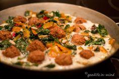Mangold-Omelett mit Falafel - goodlife.in-mind.de