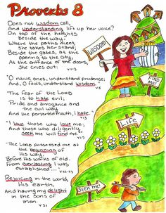 Doodle Through The Bible: Proverbs 8  Illustrated Faith Journal entry for Good Morning Girls (GMG) Bible Study, Free printable PDF Coloring page link at the website. Come Join the Proverbs Linky Party to share your work!