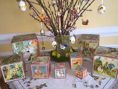 Easter Decoration Wooden Nesting Blocks Vintage