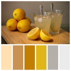#kleurenpalet met #okergeel, #grijs en #bruin – nr.16 Warm Colour Palette, Color Plan, Living Room Colors, Home Bedroom, House Colors, Interior Design Living Room, Home Deco, Colorful Interiors, Color Inspiration