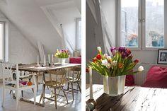 Keltainen talo rannalla: Skandinaavista tyyliä