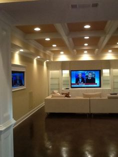 multiple flat panel tvs mounted on brick wall of home basement bar flat panel tvs pinterest shelves shape and flats