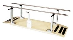 """Power Platform Parallel Bars feature a digital display on a user friendly control panel showing the exact bar height. Memory buttons allow storage and recall of four separate bar height settings ensuring reliable operation with a safe switch-off in case of a fault. Heavy gauge 1-1/2""""-diameter stainless steel handrails. Slip resistant platform."""