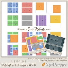 Daily Life Collection Squares 12 x 12  Susie Roberts  Get your Project Life scrapping done super-fast with the Daily Life Collection Squares...