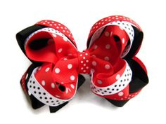 Red Valentine's Day hair bow for girls baby by PoshPrincessBows1, $11.25