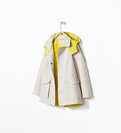 Image 2 of LINED RAINCOAT WITH HOOD from Zara