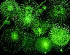 Fireworks, green