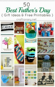 Last Minute Ideas for Father's Day- free printables
