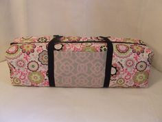 Carrying Case for the Silhouette Cameo/Cricut Expressions Machine / Scrapbooking tote / Die Cut Machine Bag / Pink & Green Medallion Flowers by homespunexpressions on Etsy https://www.etsy.com/listing/237531947/carrying-case-for-the-silhouette