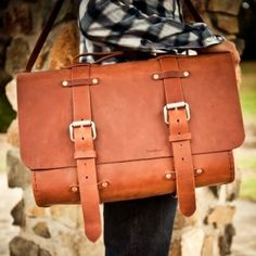 probably the most beautiful satchel i've ever seen. my husband custom makes them & they're a sight to behold. #vintage #leather #satchel by estelle