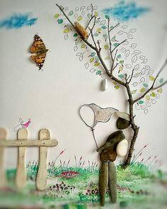 332 отметок «Нравится», 13 комментариев — Pebble Artist  (@ayselbarboroz) в Instagram: «Kelebeğin ömrüne bir gün deme,o senin gibi ayları değil anları yaşar.Bir hayali resimledim.  . .…»