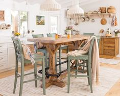 7 The Best Furniture For Your Kitchen Table Is Now Chic Dining Room Each section in the residence must have a variety of forms and special uniqueness. Like the dining room in the house. In addition to being room to eat. Furniture, Chic Kitchen, Table Furniture, Kitchen Table, Home Decor, Home Renovation, Pub Table, Kitchen Renovation, Shabby Chic Kitchen