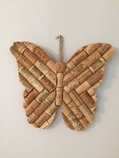 Wine cork butterfly #etsy