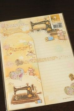 Kawaii Letter Set - Sewing Machine