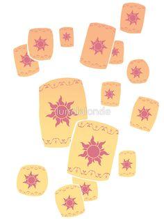 Floating Lanterns Gleam by lunalalonde, Disney Tangled sticker Disney Tangled Tattoo, Disney Tattoos, Lantern Tattoo, Rapunzel And Eugene, Tote Bag, Disney Shirts, Easy Drawings, Sticker Design, Easy Pencil Drawings