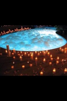 I don't need a pool when we will be going to the lake. but I do need a romantic jacuzzi surrounded by candles to have many romantic nights. Romantic Night, Romantic Dates, Romantic Ideas, Romantic Candles, Romantic Things, Romantic Moments, Romantic Surprise, Romantic Proposal, Romantic Honeymoon