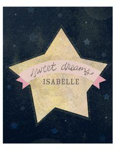 #Poster met naam van je kindje! | Sweet Dreams Customizable name print via Studio Yellow Button
