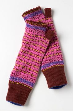 #Fairisle #ArmWarmers #Anthropologie  My hands/arms get so cold when I'm working at my comp!