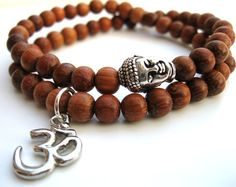 NOTE: LOVE the silver Buddha bead & OM charm.            Beautiful wrist mala...