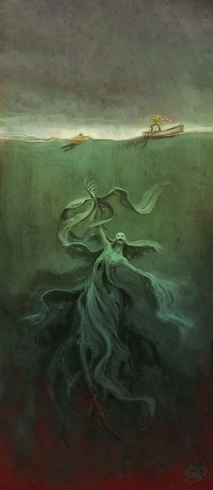 Sebastian Giacobino ilustrador: Monstruo marino- Marine monster