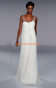 Belle robe de mariée fourreau en dentelle
