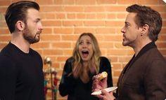 Capitão América: Guerra Civil   Chris Evans e Robert Downey Jr. Lutam Pelo Último Donut! on MonsterBrain http://www.monsterbrain.com.br