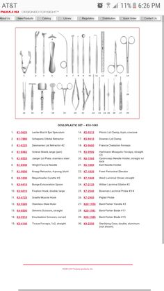 SURGICAL INSTRUMENTS: A large variety from Surgical