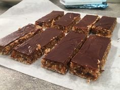 Healthy Bars, Healthy Cookies, Healthy Sweets, Healthy Baking, Vegetarian Recepies, Raw Food Recipes, Dessert Recipes, Bake My Cake, Chocolate Oats