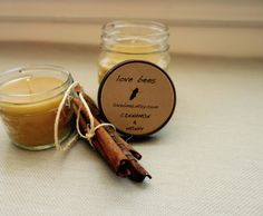 Latest Photographs Beeswax Candles mason jar Suggestions In business and also decorating beeswax candles is a straightforward strategy to generate lovely a Mason Jar Gifts, Mason Jar Candles, Beeswax Candles, Large Candles, Honey And Cinnamon, Aromatherapy Candles, All Things Beauty, Burning Candle, Etsy